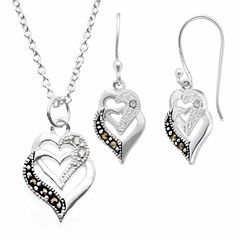 Sparkle Allure Le Vieux 2-pc. Marcasite Silver Over Brass Jewelry Set