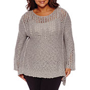 Arizona Bell Sleeve Sweater-Juniors Plus
