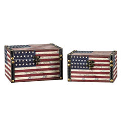 Household Essentials® American Flag 2-pc. Storage Bin