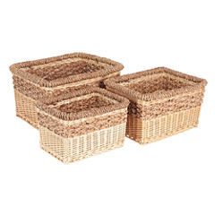 Household Essentials Starling Wicker 3-pc. Basket