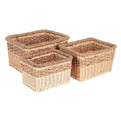 Household Essentials Starling Wicker 3-pc. Basket