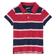 Arizona Short Sleeve Stripe Pique Polo Shirt