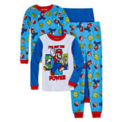 Boys 4-pc. Long Sleeve Super Mario Kids Pajama Set-Big Kid