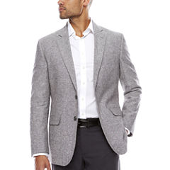 Stafford Linen Cotton Grey Sport Coat- Classic Fit