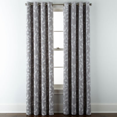 jcpenney home quinn leaf grommettop curtain panel