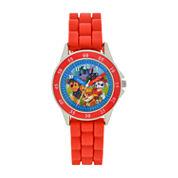 Boys Red Strap Watch-Paw9011jc