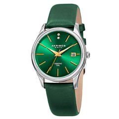 Akribos XXIV Womens Green Strap Watch-A-879gn