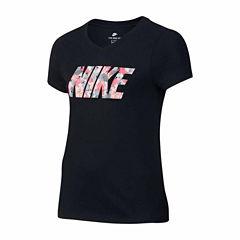 Nike Short Sleeve T-Shirt-Big Kid Girls