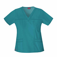 Dickies Womens V Neck Scrub Top