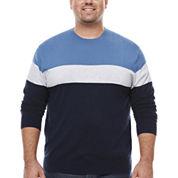 Claiborne Crew Neck Long Sleeve Cardigan Big and Tall