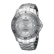 Pulsar® Mens Stainless Steel Watch PXHA33