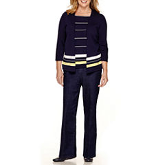 Alfred Dunner® Sausalito Layered Sweater or Denim Pants