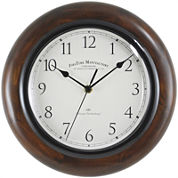 Walnut Round Whisper Wall Clock