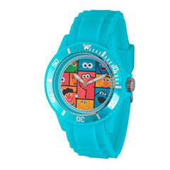 Sesame Street Unisex Blue Strap Watch-Wss000008