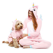 Unicorn One Piece Pajama and Dog Costume