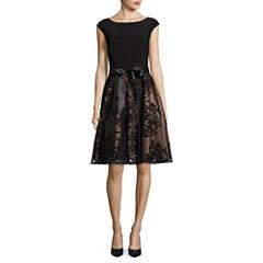 S. L. Fashions Sleeveless Fit & Flare Dress