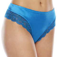Ambrielle Tummy Smoothing Stretch Satin Thong