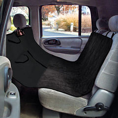 Yes Pets Quilt Suede Hammock-Style Car Seat Cover
