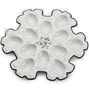 Pfaltzgraff® Winterberry Snowflake Egg Tray