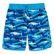Arizona Boys Sharks Swim Trunks-Preschool