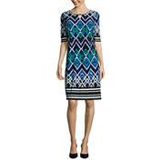 Liz Claiborne Elbow Sleeve Shift Dress