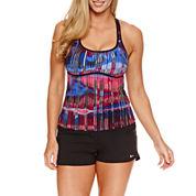 Nike ® Tie Dye Tankini or Solid Swim Shorts