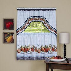 Golden Delicious 3-pc. Rod-Pocket Kitchen Curtain Set