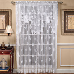 Butterfly Lace Rod-Pocket Window Treatments