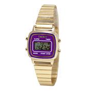 Decree® Concepts Womens Purple Retro Digital Expansion Watch