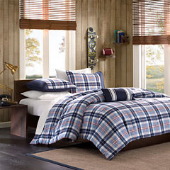 Mi Zone Alton Plaid Duvet Cover Set