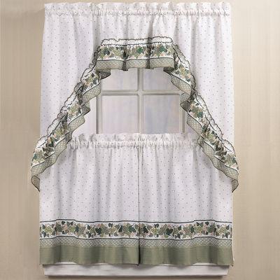 Rod Pocket Kitchen Curtain Set