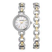 Armitron Now Womens Two Tone Watch Boxed Set-75/5485mpttst