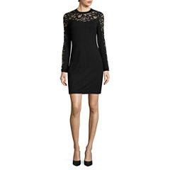 Rebecca B Long Sleeve Bodycon Dress