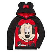 Girls Minnie Mouse Hoodie-Big Kid