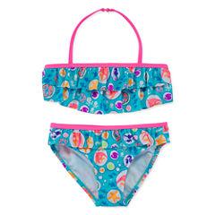 Angel Beach Girls Solid Bikini Set - Preschool