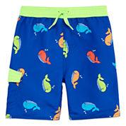 Arizona Boys Whales Swim Trunks-Toddler