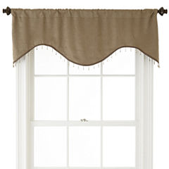 Home Expressions™ Cassidy Scalloped Rod-Pocket Crushed Valance