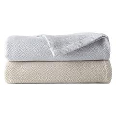 Liz Claiborne® Yarn-Dyed Liquid Cotton Blanket