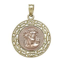 Tesoro™ 14K Two-Tone Gold Jesus Medallion Pendant