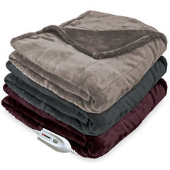 Serta® Silky Plush 110-Volt Electric Warming Throw