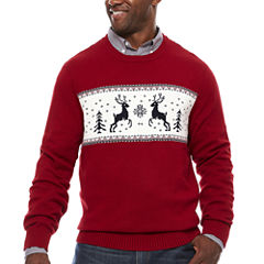 Dockers Long Sleeve Holiday Sweater- Big & Tall