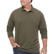The Foundry Big & Tall Supply Co. Long Sleeve Solid Polo Shirt Big and Tall