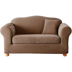 SURE FIT® Stretch Piqué 2-pc. Loveseat Slipcover