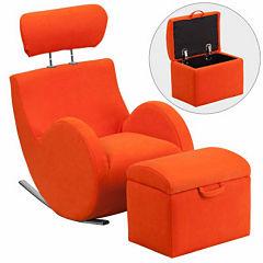 Fabric Rocking Chair