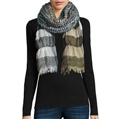 Ruched Plaid Scarf