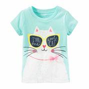 Carter's Girls Short Sleeve T-Shirt-Baby