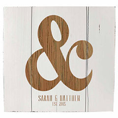 Cathy's Concepts Personalized Rustic Ampersand Wooden Wall Art