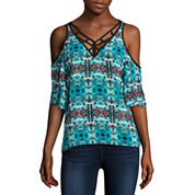 nicole by Nicole Miller Lattice Trim Top