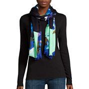 Liz Claiborne® Colorblock Floral Pashmina