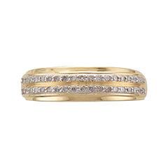 Mens 1/3 CT. T.W. Diamond 14K Yellow Gold Wedding Band